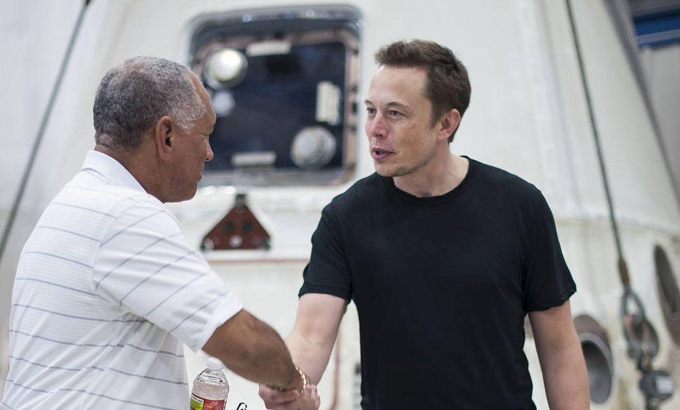 Elon Mush and Charles Bolden