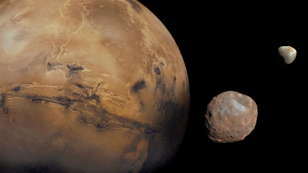 Phobos, Deimos, and Mars