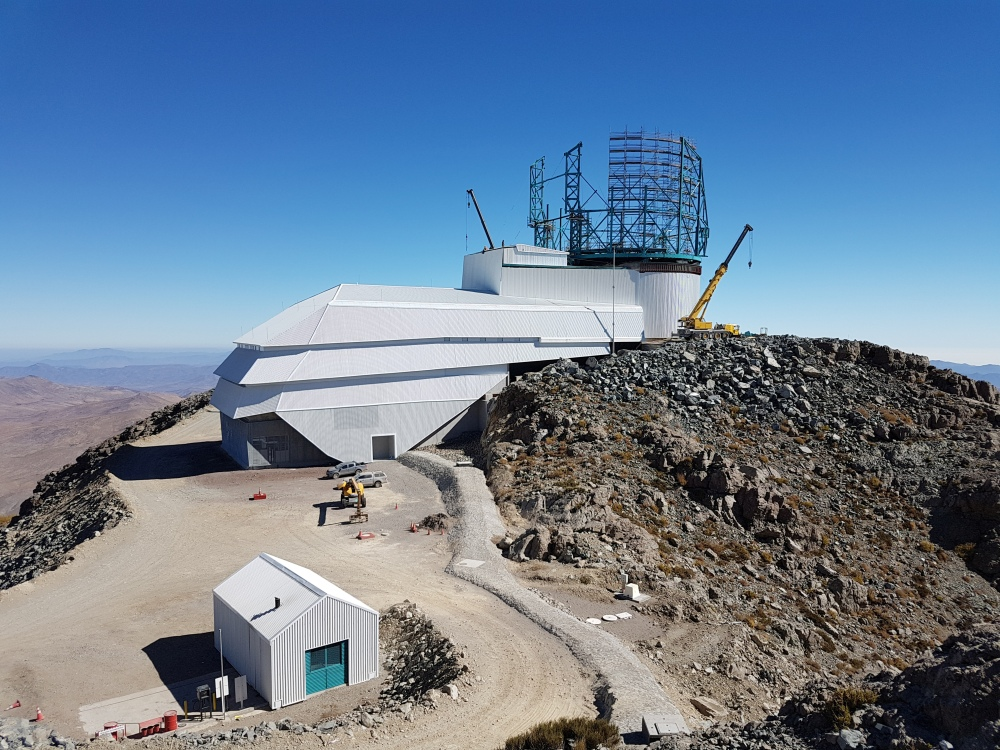 The LSST under construction in Chile