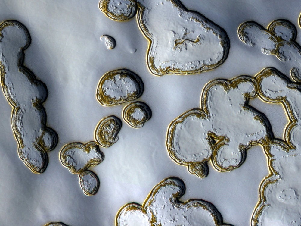 The south pole of Mars