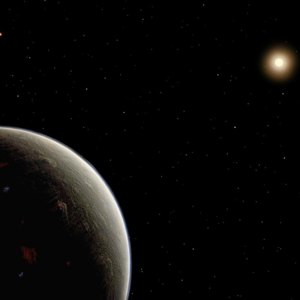 Vulcan seen in an artist conception.