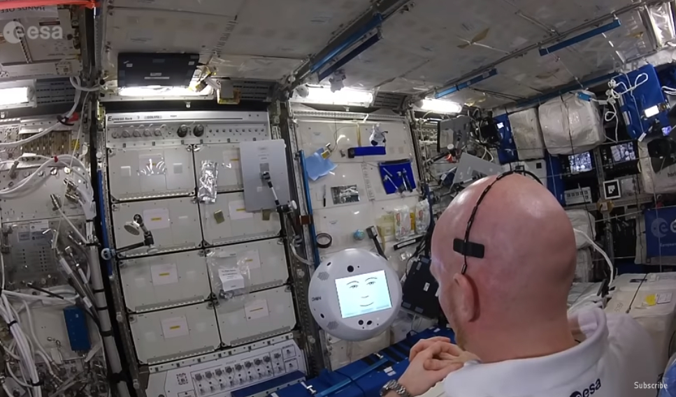 CIMON and Gerst aboard the ISS