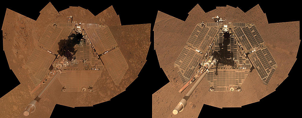 Opportunity dust storm