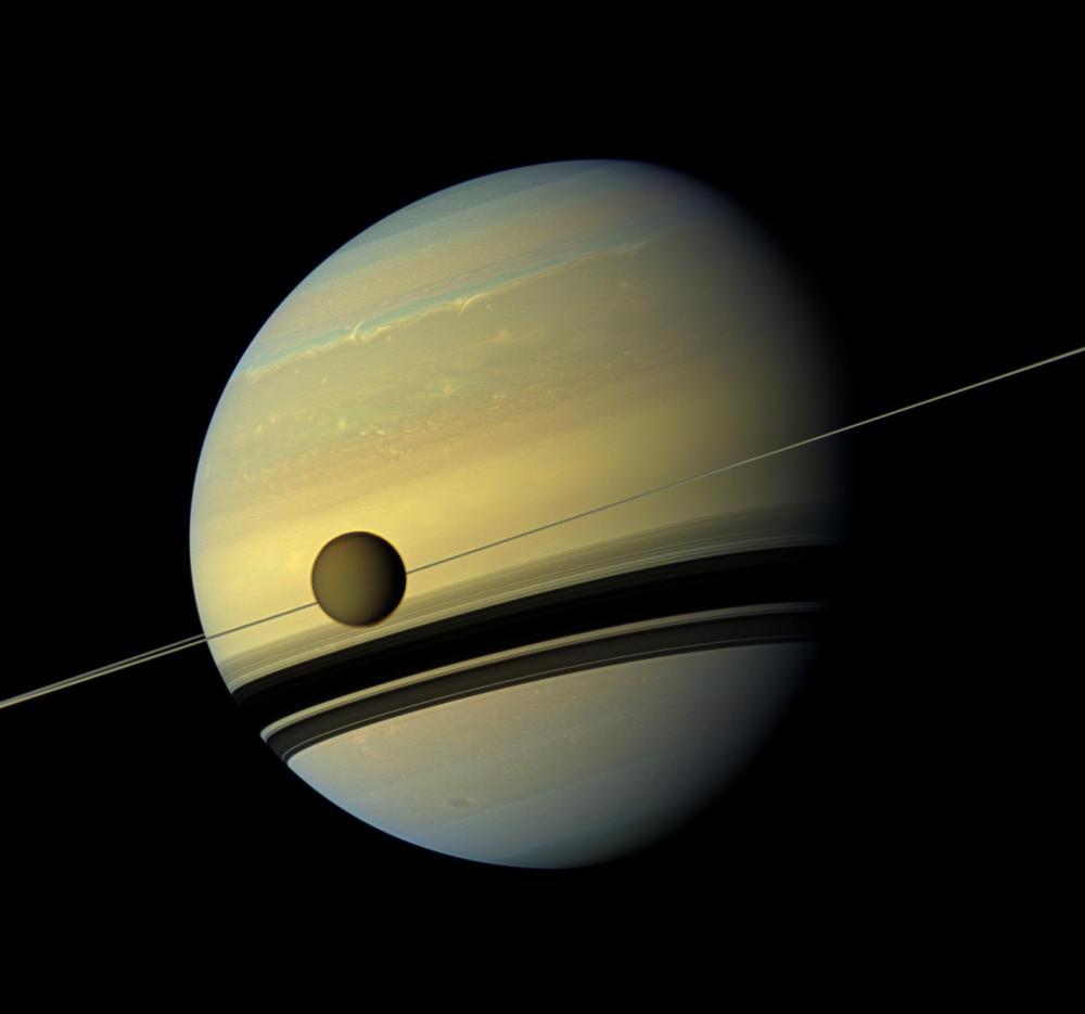 Titan and Saturn Cassini