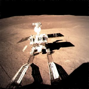 Yutu 2 released onto the surface of the far side of the Moon.