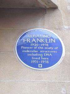 Rosalind Franklin Blue Plaque