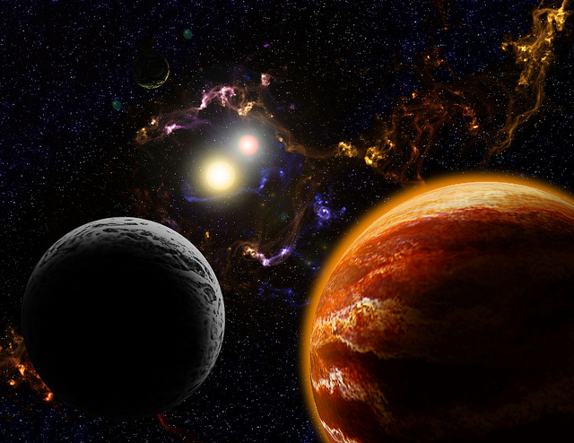 PLanets forming in a binary star system