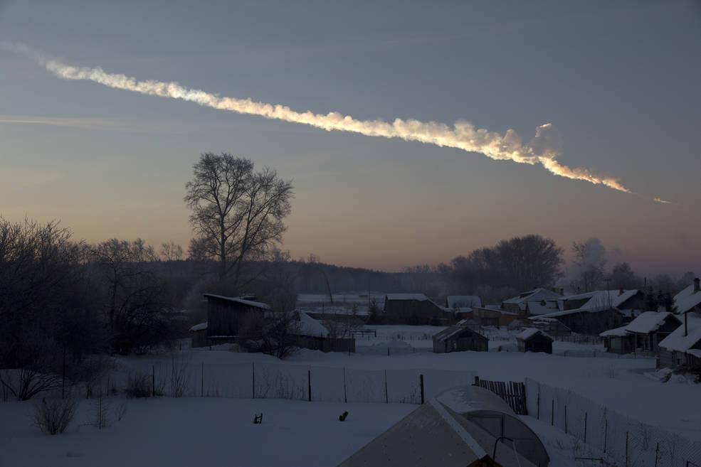 Chelyabinsk vapor trail