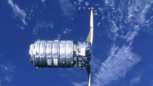 Cygnus spacecraft docking with the ISS