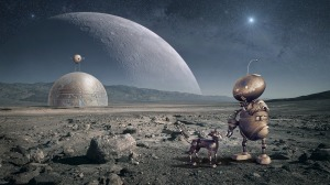 A moon colony could help lead the way for human colonization of space.